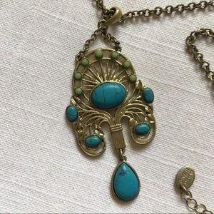 Danielle Stevens Boho Necklace Faux Turquoise